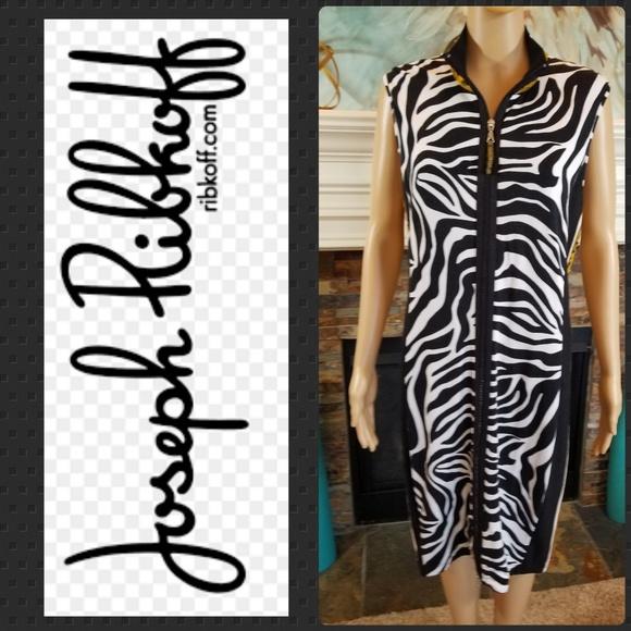 d6053147a364 Joseph Ribkoff Dresses & Skirts - JOSEPH RIBKOFF ANIMIAL PRINT ZIP  SLEEVELESS DRESS